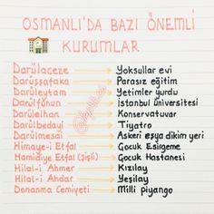 Osmanlı zamanında Revision Notes, Study Notes, Study Methods, Study Tips, Merida, Learn Turkish, Motivation Wall, School Notes, Study Inspiration