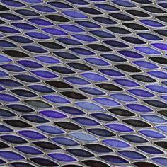 Merola Tile Pescado Glossy Azul 12 in. x 12-1/2 in. x 6 mm Ceramic Mosaic Tile-FNGPESAZ - The Home Depot