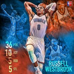 Russell Westbrook. Another double double. #THUNDER UP. Via: NBA TV