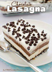 "OhMyGosh Chocolate ""Lasagna"""