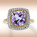 My birthstone..... Rose Gold Diamond & Amethyst Ring. Neeeeed.
