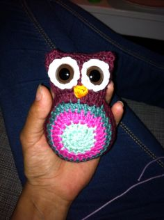 Crocheted owl. Made the pattern myself
