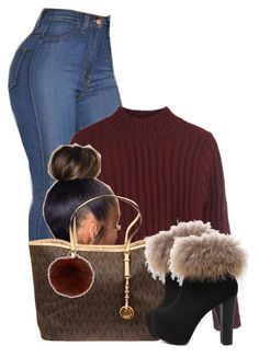 """""""Untitled #2898"""" by alisha-caprise ❤ liked on Polyvore featuring MICHAEL Michael Kors and Yves Salomon"""