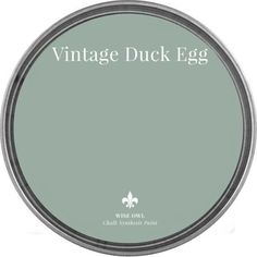 Vintage Duck Egg Wise Owl Chalk Synthesis Paint Available in Blue Green Paints, Green Paint Colors, Paint Colors For Home, House Colors, Chalk Paint Colors, Cabin Paint Colors, Duck Egg Blue Chalk Paint, Hallway Paint Colors, Sage Green Paint