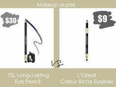Makeup dupes: YSL eye pencil dupe
