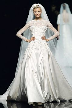 Elie Saab for Pronovias Spring 2013 Wedding Dress Collection! Elie Saab gowns are available from Kathy de Stafford Bridal Wedding Dress Trends, Used Wedding Dresses, Gorgeous Wedding Dress, Wedding Dress Styles, Beautiful Gowns, Perfect Wedding, Simply Beautiful, Wedding Blog, Wedding Ideas