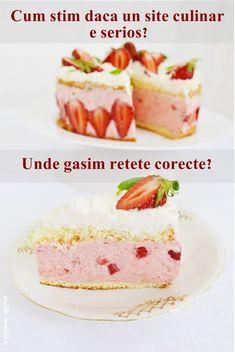 Cum ştim dacă un site culinar e serios Unde găsim reţete corecte Romanian Food, Vanilla Cake, Cheesecake, Sweets, Desserts, Face, Blog, Tailgate Desserts, Deserts