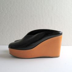 ROBERT CLERGERIE black leather platform mules 8.5 by TheLovedOne