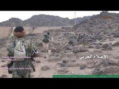 Guerreiros Houthis atacando posto militar da Arábia Saudita em Najran - ...