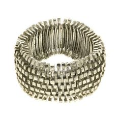 Silver Metal Costume Bracelet in Elastic Cord Fashion Jewelry Indian ShalinIndia. $30.86. No nickel, lead or cadmium. Elastic cord. Silver color brass metal. Artisan crafted in India. Weight: 125 grams