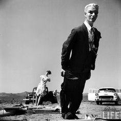 Manequim que seria usado em testes com bombas atômicas no deserto de Nevada na década de 1950.