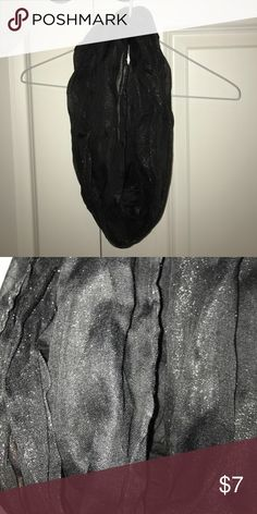 Black Shimmery Infinity Scarf Never worn, no tags. Black shimmery infinity scarf. (Sparkles do not fall off, it is just the fabric). :) Other
