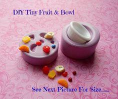 Make Miniature Fruit Bowl Molds Strawberry Orange Fruit Salad Doll House Fake Food Tiny Food, Fake Food, Ceramic Cafe, Food Mold, Cupcake Mold, Miniature Food, Miniature Dollhouse, Orange Fruit, Cute Clay