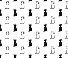 cats fabric by kategabrielle on Spoonflower - custom fabric
