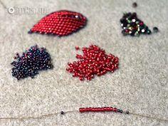 Z całego serca ...: Tutorial- Russian Leaf- listek z koralików