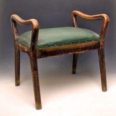 Sgabello in legno Art Decò, da pianoforte o poggiapiedi - anni '30
