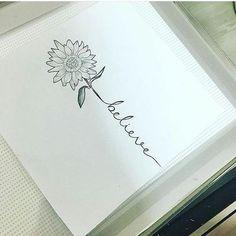 Gorgeous Sunflower Tattoos For Women # Tattoo Designs Lotusblume Tattoo, Tattoo Fleur, Tattoo Son, Piercing Tattoo, Aunt Tattoo, Beloved Tattoo, Word Tattoos, Body Art Tattoos, New Tattoos