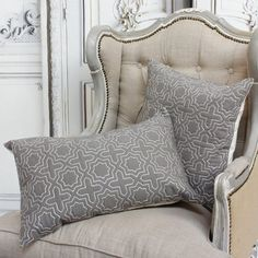 Geo Cushions - View All Home Accessories - Home Accessories Modern Moroccan, Embroidered Cushions, Floor Cushions, Soft Furnishings, Home Accents, Home Accessories, Love Seat, Bed Pillows, Pillow Cases