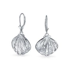 Bling Jewelry 925 Silver Nautical Filigree Seashell Leverback Earrings ** Details can be found by clicking on the image. (This is an affiliate link and I receive a commission for the sales)