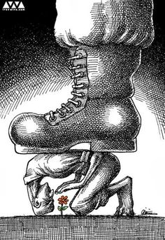 100 Anti-System Caricatures from Exiled Iranian Cartoonist Mana Neyestani – hùeslqg ulu – Join in the world of pin Art Sketches, Art Drawings, Pictures With Deep Meaning, Art With Meaning, Satirical Illustrations, Meaningful Pictures, Deep Art, Political Art, Environmental Art