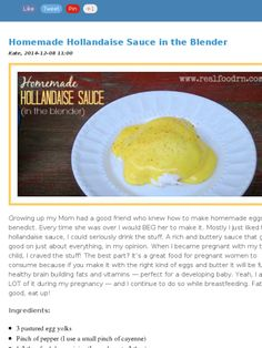 Check out this Mad Mimi newsletter Hollandaise Sauce Blender, Homemade Hollandaise Sauce, Gluten Free Recipes, Keto Recipes, Cooking Recipes, Egg Mayonnaise, Homemade Dressing, How To Make Homemade, Spice Mixes