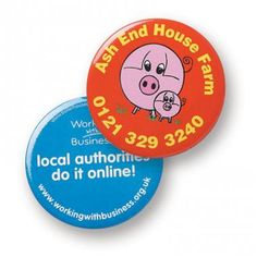 57mm Button Badge With plastic back and safety pin or child safe clip back