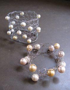 Knitted wire bracelet