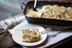 Parsnip Gratin with Gruyere and Thyme | Feasting At Home