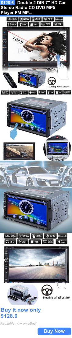 Vehicle Electronics And GPS: Double 2 Din 7 Hd Car Stereo Radio Cd Dvd Mp5 Player Fm Mp3 Gps Nav Bluetooth BUY IT NOW ONLY: $128.6
