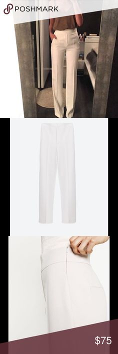 Zara Straight Leg Long Flowing Trousers Pants SIMILAR TO THE TROUSERS ON THE…