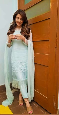 Designer Dresses at sale prices Pakistani Dresses Casual, Indian Gowns Dresses, Indian Fashion Dresses, Dress Indian Style, Pakistani Dress Design, Indian Outfits, Muslim Fashion, Stylish Dress Designs, Designs For Dresses