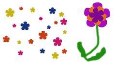 Flower stencil for tshirt