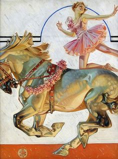 """Giclee Print: """"Circus Bareback Rider,"""" Saturday Evening Post Cover, May 1932 by Joseph Christian Leyendecker : Norman Rockwell, Vintage Circus, Vintage Art, Vintage Sewing, Vintage Posters, American Illustration, Illustration Art, Ballerina Illustration, Journal Vintage"""