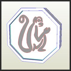 Jackie Chan Adventures - Monkey Talisman Free Papercraft Download - http://www.papercraftsquare.com/jackie-chan-adventures-monkey-talisman-free-papercraft-download.html