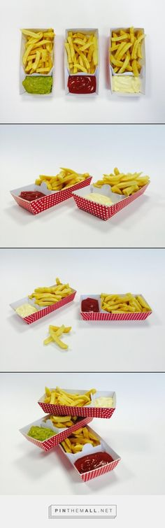 Patented snack tray packaging by Remmert Dekker, Netherlands. - a grouped images picture - Pin Them All Burger Packaging, Cool Packaging, Food Packaging Design, Packaging Ideas, Food Truck Design, Food Design, Chicken And Chips, Best Food Trucks, Food Staples