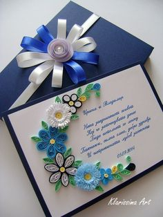 Paper Quilling Tutorial, Paper Quilling Patterns, Quilling Paper Craft, Paper Crafts Wedding, Craft Wedding, Arte Quilling, Quilled Creations, Wedding Cards Handmade, Pop Up Cards