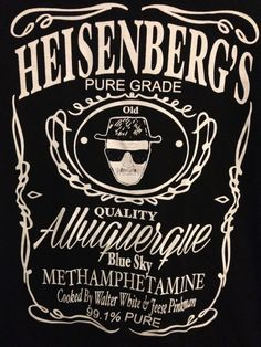 Hey, I found this really awesome Etsy listing at https://www.etsy.com/listing/178053327/heisenberg-breaking-bad-t-shirt