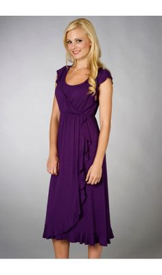 Purple nursing dress...
