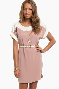 blush shift dress with belted waist and decorated sleeve top Junior Dresses, Girls Dresses, Dresses For Work, Summer Dresses, Women's Dresses, Belted Shirt Dress, Dress Up, Professional Attire, Dresses Online