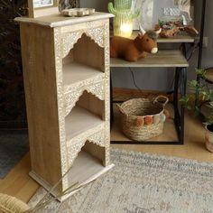 Mueble estantería 3 baldas étnico 88x37 cm