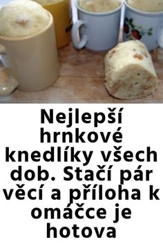 Czech Recipes, Dumplings, Easy Cooking, Food Art, Deserts, Food And Drink, Tasty, Bread, Pizza