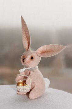 30 sale nursery decor girl baby gift toys bunny rabbit kids gift easter felted bunny felt decoration easter basket easter rabbit with basket easter bunny stuffed bunny celebrations easter decor miniature negle Image collections