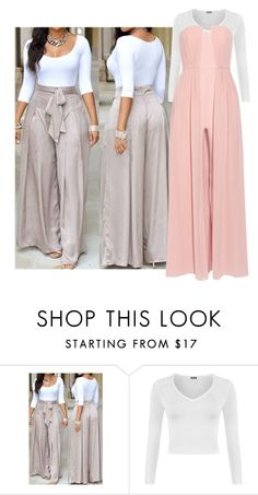 """Untitled #1900"" by kam1027 ❤ liked on Polyvore featuring WearAll and Halston Heritage"