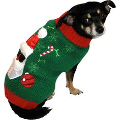 Dog Holiday Ugly Sweater, Santa: Dogs #holiday #christmas #tradition