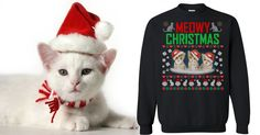 Meowy Christmas!   I Know I'm Contradicting Myself But This Ugly Kitten Sweatshirt Is Adorable! 💗💗💗💗💗 www.lovehippiecat.com #love #createyourhappiness #craft #planner #plannergirl #scrapbooking #create #artsandcrafts #cute #plannerlove #plannercommunity #plannerobsessed #planneraccessories