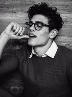tommy martinez represented by Wilhelmina International Inc. Beautiful Boys, Pretty Boys, Beautiful People, Boys Glasses, Cute Guys With Glasses, Blake Steven, Clark Kent, Aesthetic Boy, Male Photography