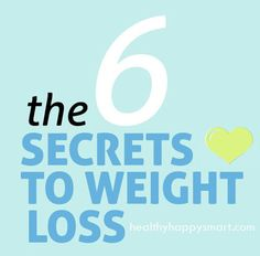 6 secrets to weight loss success
