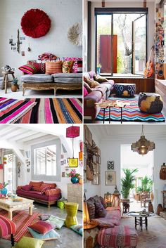 Boho Chic Interior Design - Bohemian Bedroom Design - Josh and Derek Boho Chic Interior, Bohemian Bedroom Design, Interior Design Living Room, Living Room Decor, Bedroom Decor, Apartment Chic, Urban Apartment, Home And Deco, Decoration