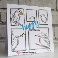I've done another comic strip card for today's STAMPlorations Inspiration . I used The Bee's Knees SmallBirds set, and Sentiment Builde. Strip Cards, Bird Cards, Bees Knees, Creative Cards, Comic Strips, Paper Crafts, Birds, Comics, Create