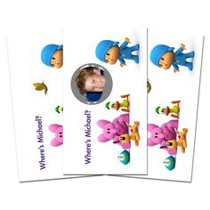 10 POCOYO Party Favor Birthday Personalized SCRATCH OFF GAMES